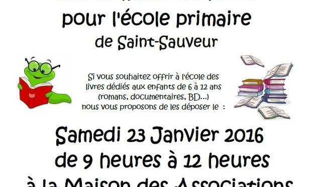 Collecte de livres pour l'école primaire