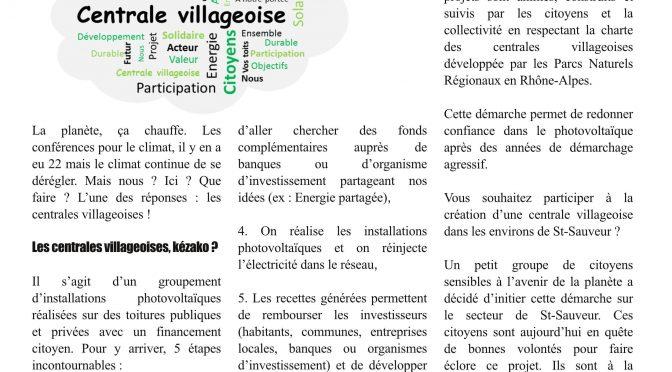 Centrale villageoise